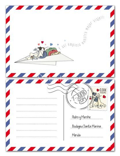 Postales dedicatorias
