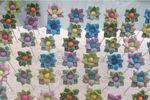 Alfileres boda fimo flores