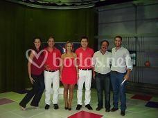 En el set de TVG con los presentadores