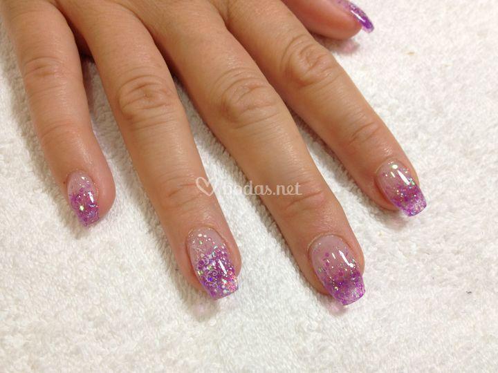 Uñas acrílico cristal malva de Luxury Nails | Foto 20