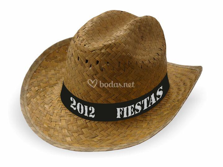 Ref. 12865. Hinojo. Sombrero tejano paja verde