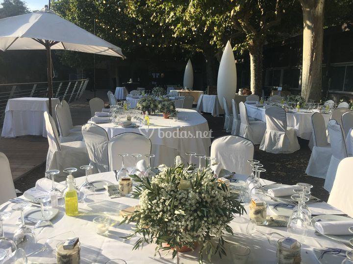 Banquete en e jardín