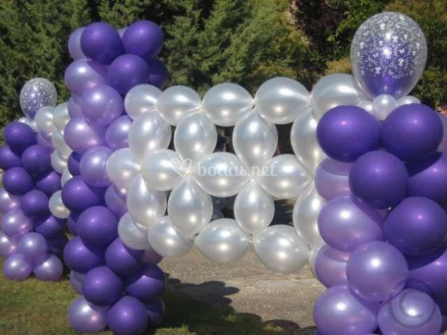 Decoraciones exteriores con globos