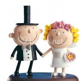 Figuras divertidas para el pastel de boda