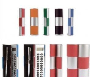 Set de calculadora y bolígrafo