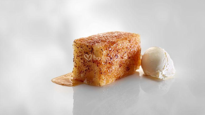 Torrija caramelizada