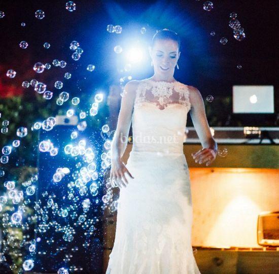 Burbujas en cada baile