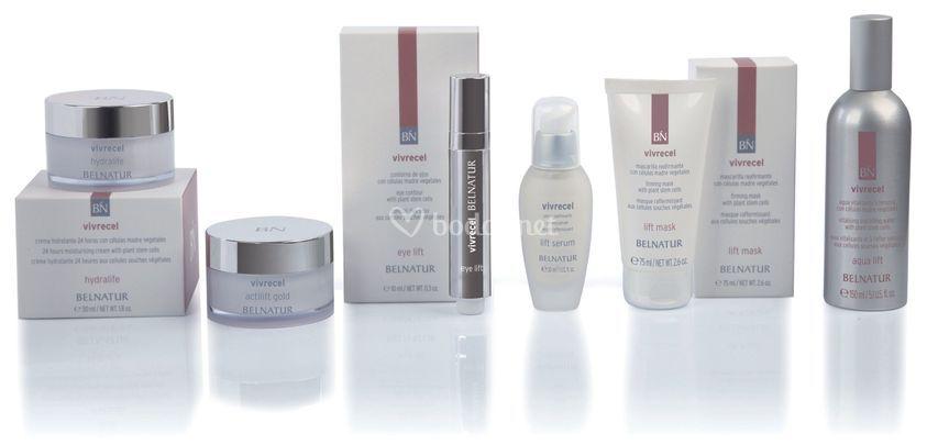 Amplia gama de cosméticos naturales