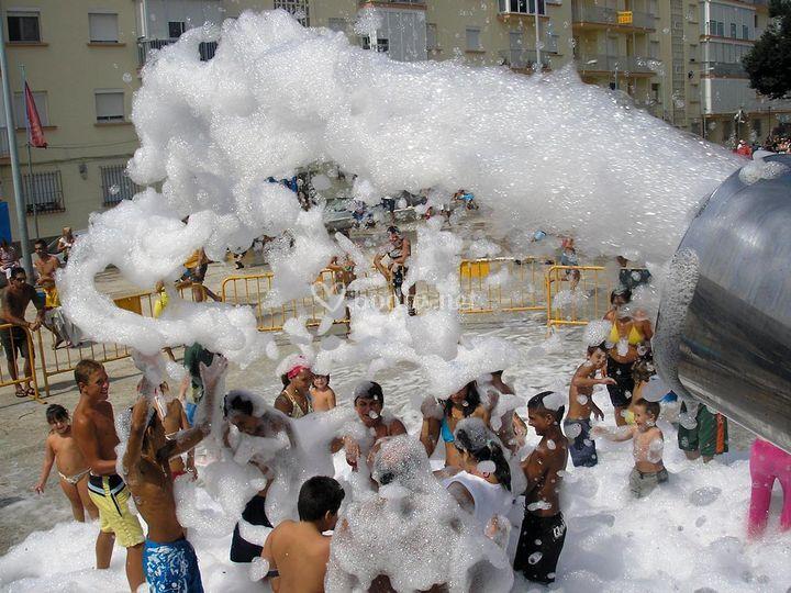 Cañones de espuma