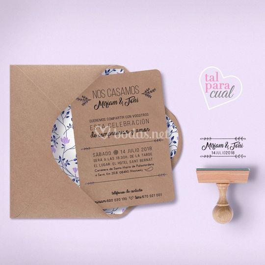 Invitación/sello personalizado