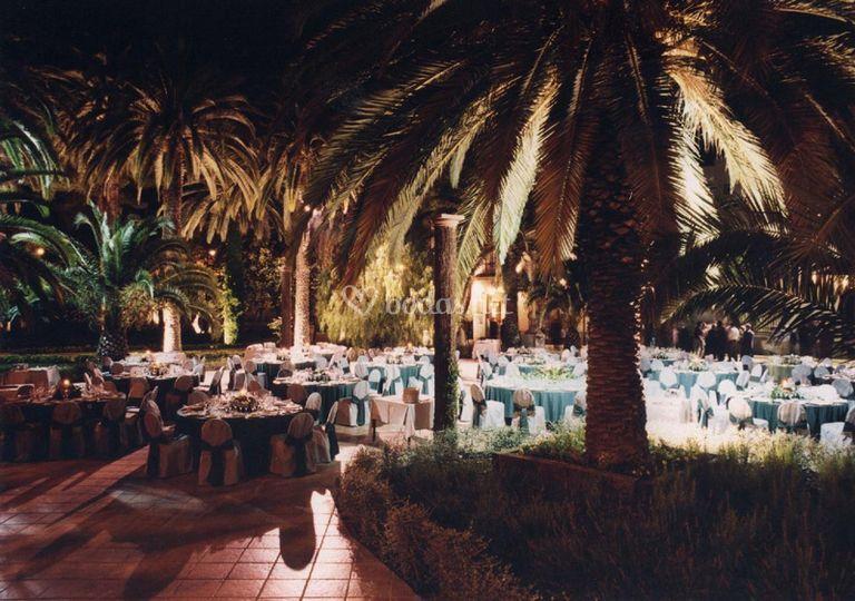 Montaje banquetes al aire libre
