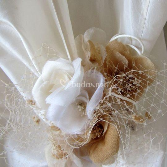 Cinturón flores novia