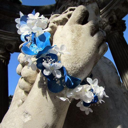 Corona de flores para niña de arras