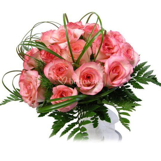 Ramo de novia rosas rosa