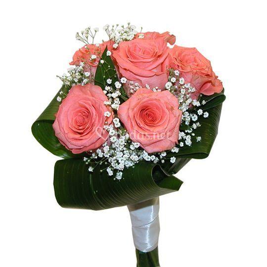 Bouquet de novia rosas rosa