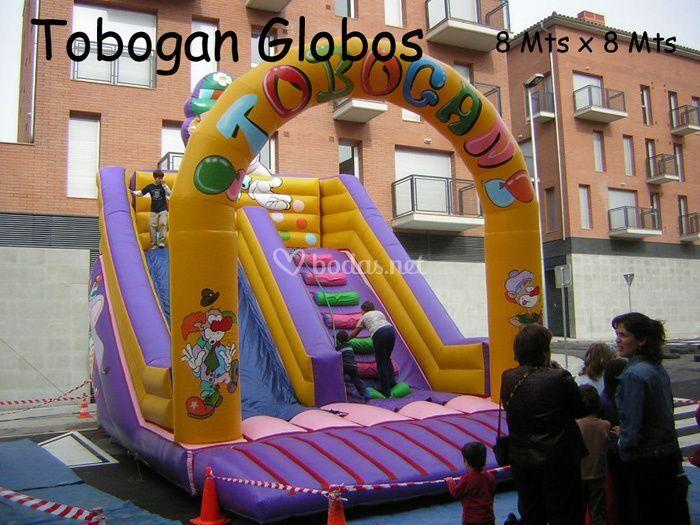 Tobogan globos
