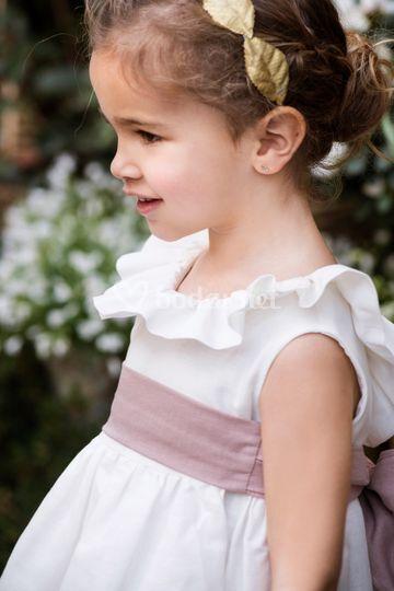 Vestino lino blanco roto