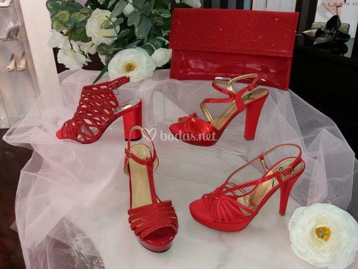 Sandalias de novia de color