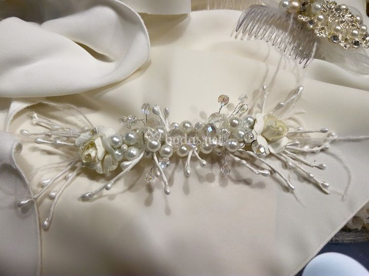 Tocado de novia cristal