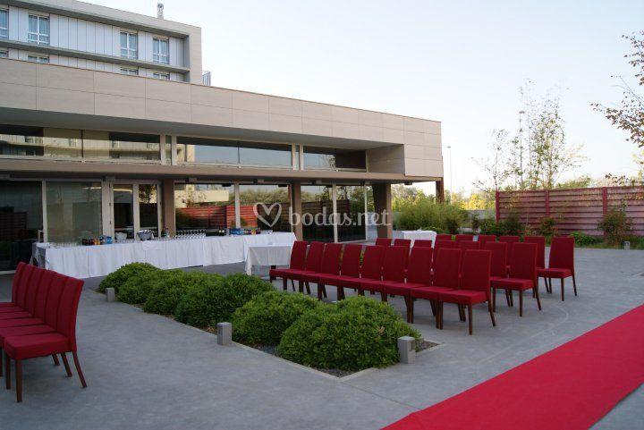 Jadín para ceremonia civil Hotel Rey Fernando II de Aragon
