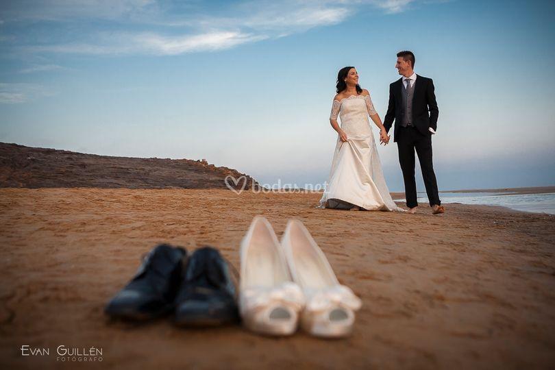 Fotos de boda en Calblanque