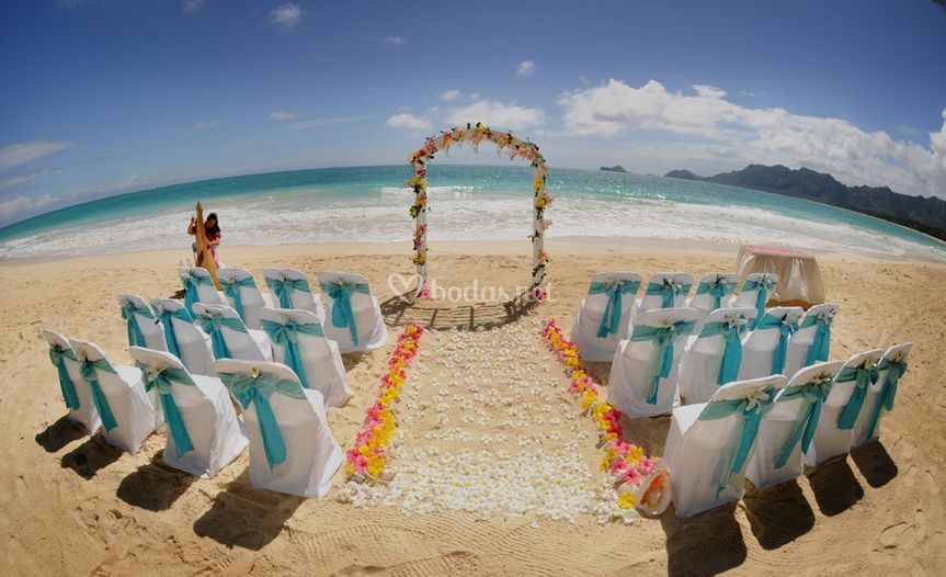 Ceremonia Playa lazo turquesa