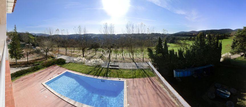 Vistas habitaciones piscina