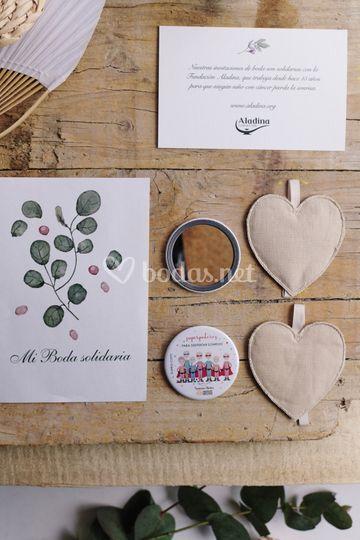 Tarjetón de boda y regalos