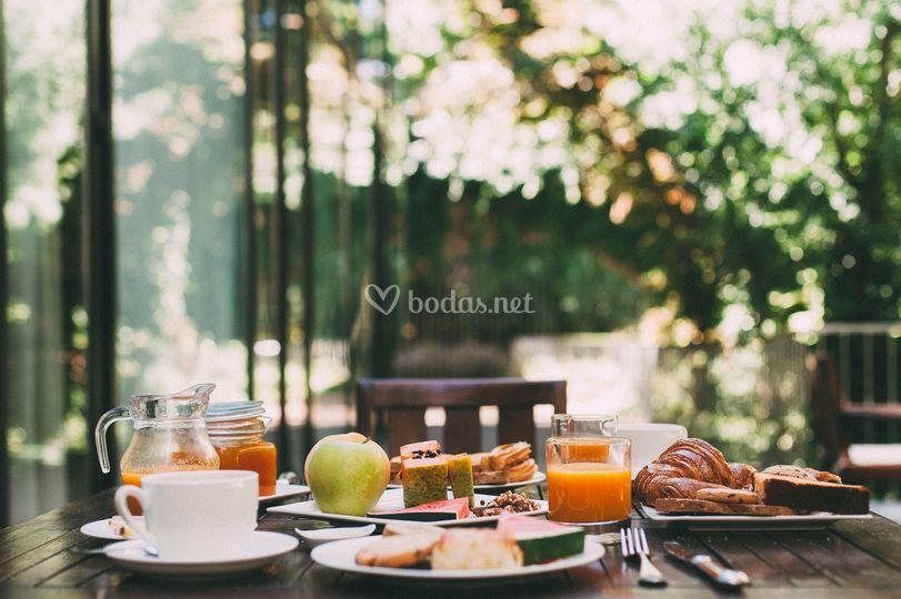 Desayuno en terraza