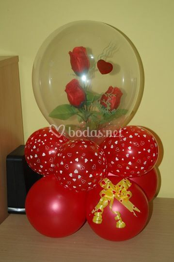 Rosas englobadas para regalo