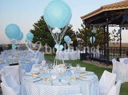 Centro mesa azul comunion