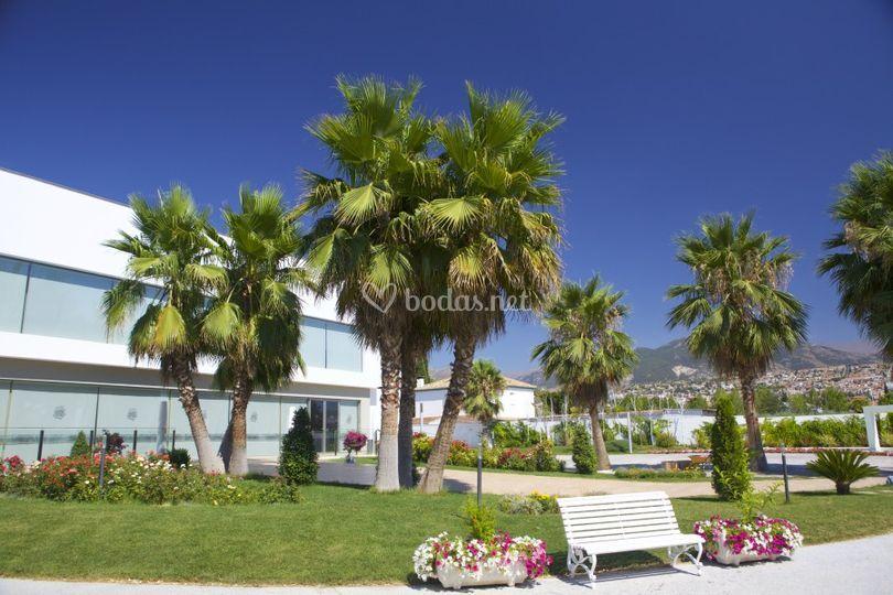 Jardines de siddharta - Jardines con palmeras ...