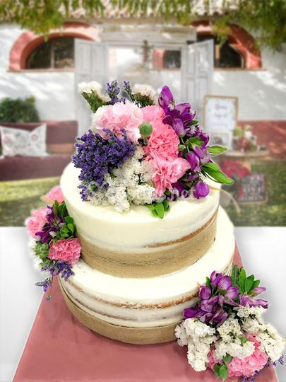 Tarta boda rústica