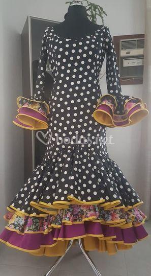 Vestido flamenco topos