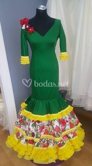 Vestido flamenco verde
