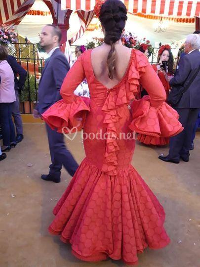 Vestido flamenco rojo