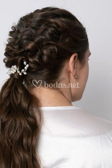 Coleta con textura de novia