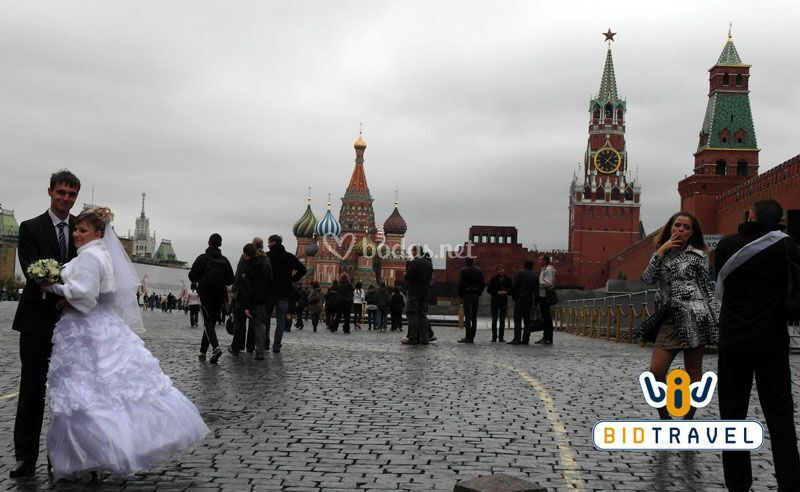 Novios en Moscú