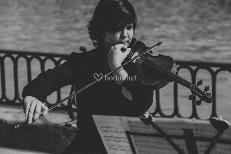 Elba al violín