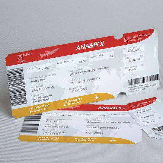 Invitación VIP pasaje Avión