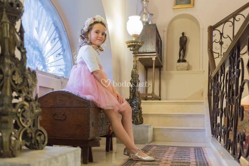 Vestido de tul rosa
