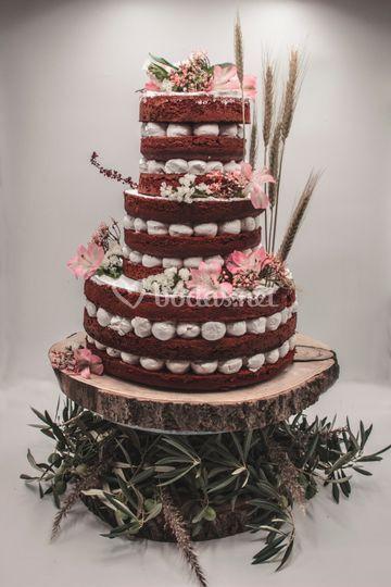 Tarta de boda red velvet