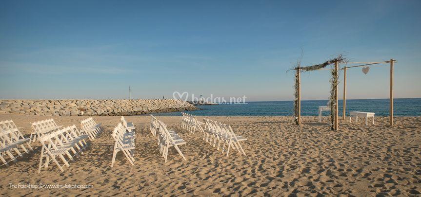 Ceremonia en la playa