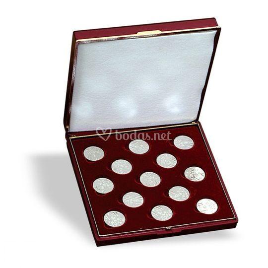 Arras plata grabadas 20MM, presentadas