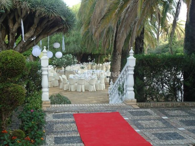 Decoraci n exterior de anaceventos wedding planner fotos for Decoracion boda exterior