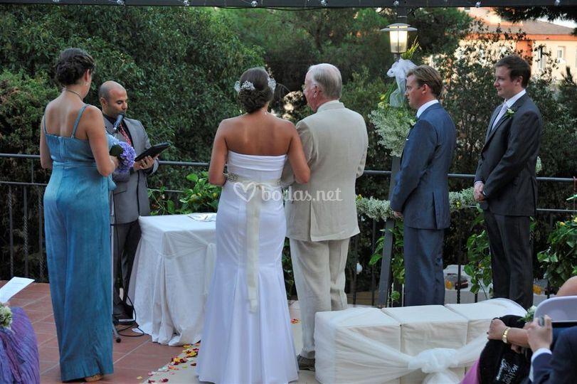 Ceremonias en inglés y francés