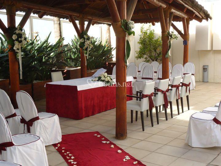 Altar en la terraza