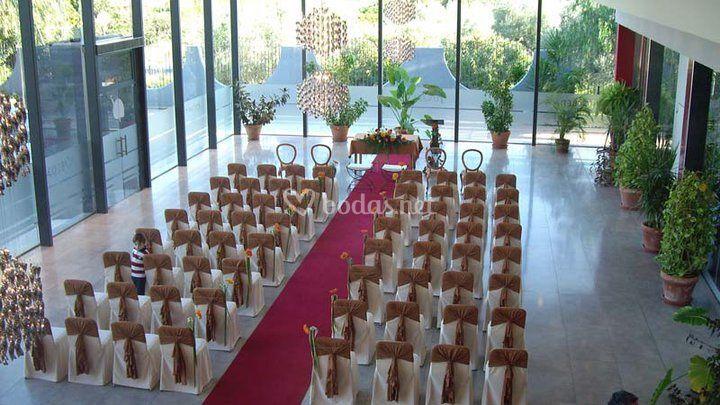 Todo preparado para la ceremonia