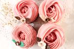 Jabones cupcakes en flor