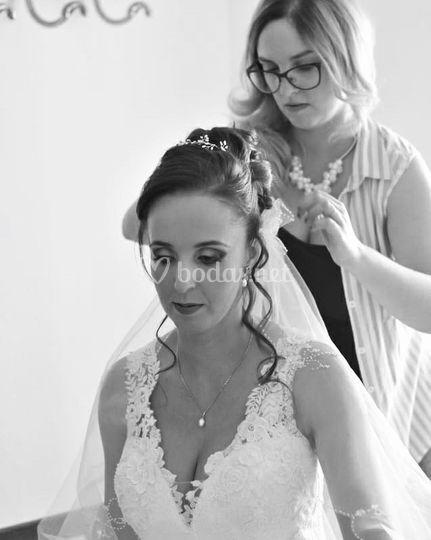Ultimando la salida de la novia